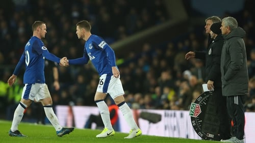 James McCarthy was introduced in place of Wayne Rooney