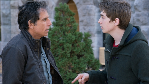 Trouble in Ivy League paradise: Ben Stiller as over-bearing dad confronts reticent son Troy (Austin Abram)