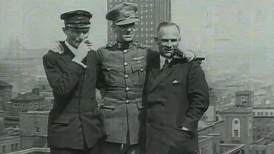 Dubliner Captain James Fitzmaurice (1898-1965) and two German co-fliers Hermann Köhl (1888-1938) and Baron von Hünefeld (1892-1929)