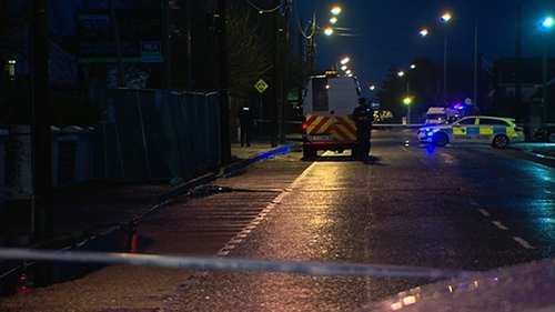Gardaí have sealed off three scenes in the town