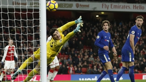 Thibaut Courtois can't stop Hector Bellerin's late thunderbolt