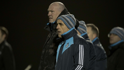 Dublin manager Pat Gilroy (L) with selector Anthony Cunningham