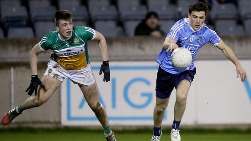 Colm Basquel (r) scored the goal for Dublin