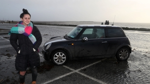 Selina Callaghan says she was 'cool, calm and collected' while driving along the surging shoreline in Galway