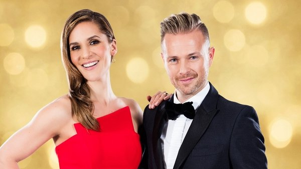 Hosts Amanda Byram and Nicky Byrne