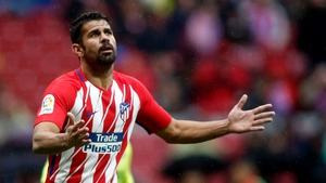 Diego Costa was stunned by the referee's decision