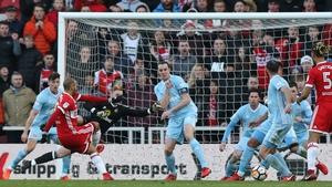 Martin Braithwaite scores against Sunderland