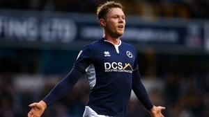 Aiden O'Brien celebrating one of his goals for Millwall
