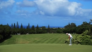 Dustin Johnson putts on the 15th green during the third round of the Sentry Tournament of Champions at Plantation Course at Kapalua Golf Club