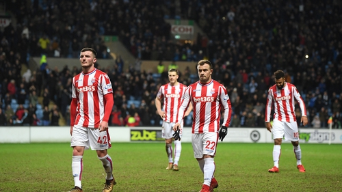 Stoke are currently in the Premier League drop zone