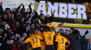 Newport celebrate Shawn McCoulsky's winner