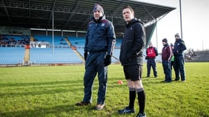 Galway Manager Kevin Walsh with Referee Paddy Neilan inspecting the Castlebar pitch