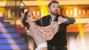 Bernard O'Shea and his dance partner Valeria