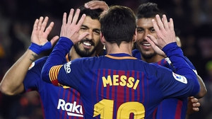 Leo Messi struck once again for Barca