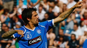 Nacho Novo in action for Rangers in 2009