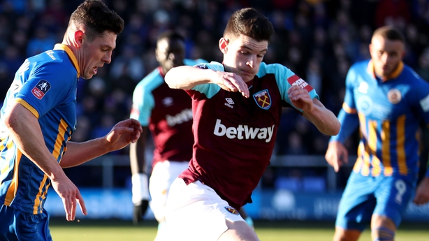 Declan Rice in Hammers action
