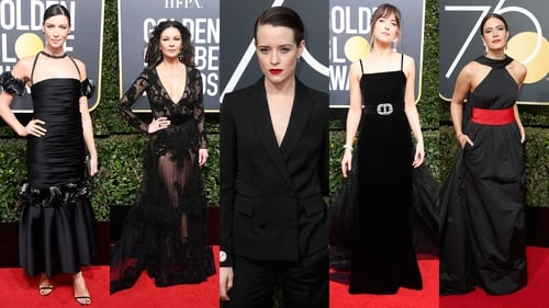 At The Golden Globes, Not Just Another Red Carpet