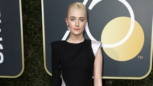 Saoirse Ronan was among the stars wearing black on the Golden Globes red carpet this year