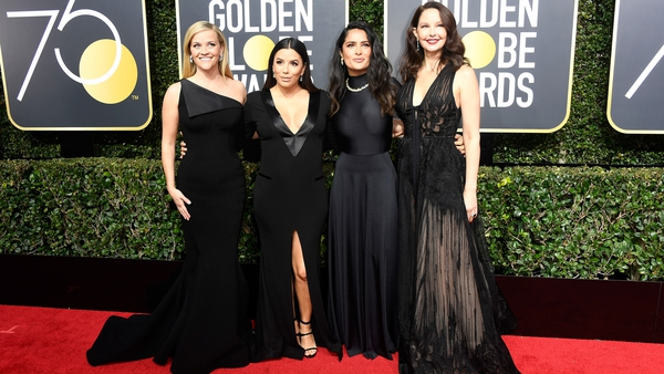 Reese Witherspoon, Eva Longoria, Salma Hayek and Ashley Judd at the Golden Globes