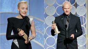 Saoirse Ronan and Martin McDonagh accept their awards