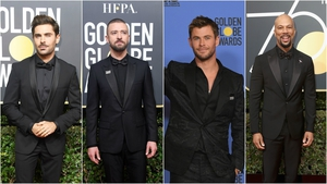 Find out which men joined the 'black dress' protest at the Golden Globes.