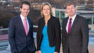 EY's Shane MacSweeney, DKM's Annette Hughes and Mike McKerr, Country Managing Partner at EY Ireland
