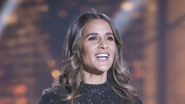 Amanda Byram presenting week one of Dancing with the Stars