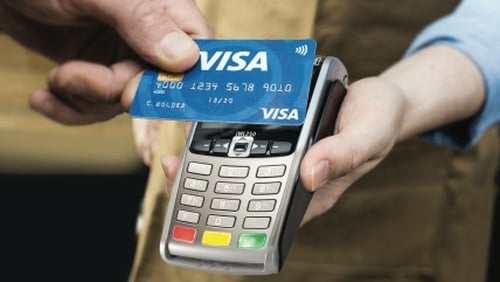 Visa said household spending continued to rise at a solid pace at the end of last year with data for December signalling a positive Christmas period for high-street retailers.