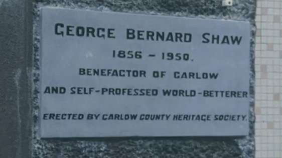 George Bernard Shaw Plaque in Carlow (1988)