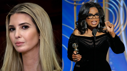 Twitter reacts to Ivanka Trump's support of Oprah Winfrey's impassioned Golden Globes speech