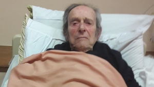 John Corbett has double pneumonia and is currently in a ward in the hospital (Picture courtesy of Corbett family)
