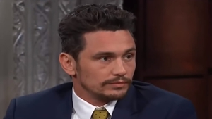 "James Franco - ""The things that I heard were on Twitter are not accurate, but I completely support people coming out and being able to have a voice because they didn't have a voice for so long"" Screenshot: The Late Show, CBS"