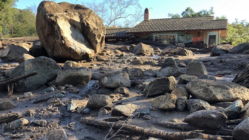 Mudslide sent huge boulders through homes