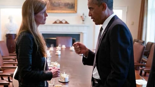 Power and Obama pow wow