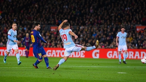 Lionel Messi fires home the opener