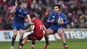 Jordan Larmour, left, and James Lowe, will both start against Glasgow Warriors this weekend