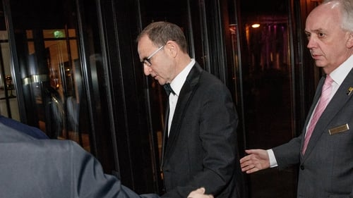 No comment - Martin O'Neill on his way into the SWAI dinner