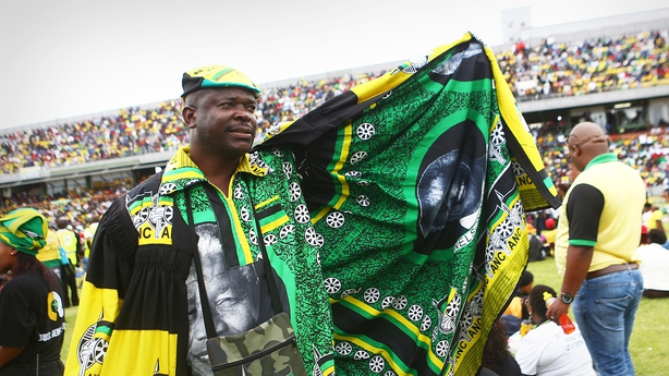 Thousands of ANC members cheered Cyril Ramaphosa during his speech