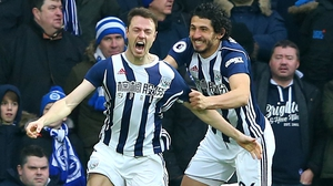 Jonny Evans scored for the Baggies