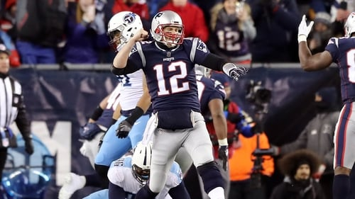 The New England Patriots defeated the Tennessee Titans 35-14.