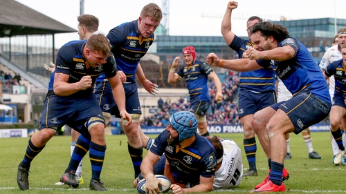 Scott Fardy scored two of Leinster's eight tries as a poor Glasgow were put to the sword