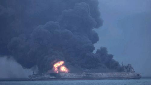 Burning Iranian Oil Tanker Sinks, 'No Hope' of Finding Survivors