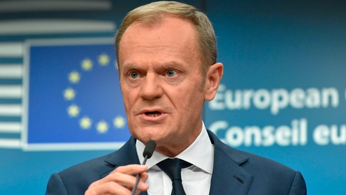 Donald Tusk made the comments in a letter to members of the European Council