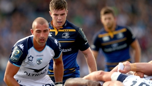 Montpellier scrum half Ruan Pienaar and his opposite number Luke McGrath during Leinster's 24-17 victory in October