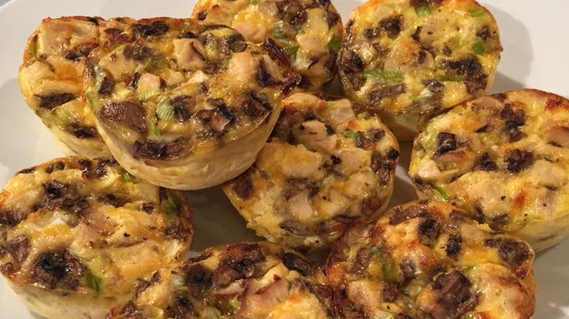 Niamhs mini chicken mushroom quiches today niamhs mini chicken mushroom quiches forumfinder Gallery