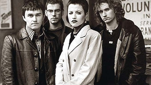 Dolores pictured with The Cranberries around the time of Zombie's original release in 1994