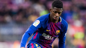 Ousmane Dembele had only recently returned from almost four months out with a hamstring injury