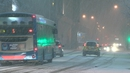 Heavy snow in Belfast led to the closure of some train lines