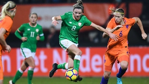 Leanne Kiernan in action against the Netherlands