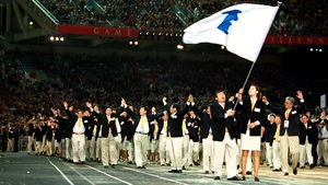 The two Koreas marched under the unified flag for the first time at the Sydney Olympics